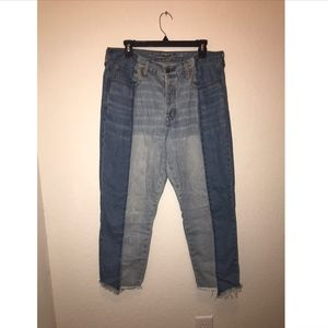 Color Block American Eagle Denim Mom-Jeans